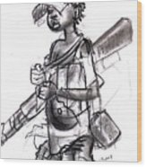 Plight Of A Child Soldier Wood Print