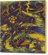 Plight Of The Lightning Bug Wood Print