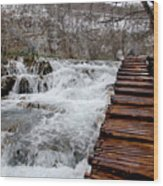 Plitvice Lakes Boardwalk Wood Print