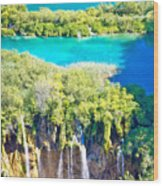 Plitvice Lakes National Park Vertical View Wood Print