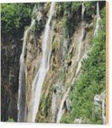 Plitvice Croatia Waterfalls 2 Wood Print