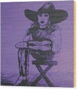 Plum Cowgirl Wood Print