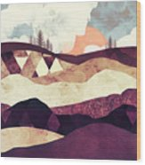 Plum Fields Wood Print