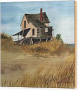 Plum Island Shack Wood Print