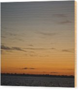 Plum Island Sunset Wood Print