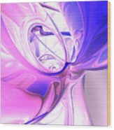 Plum Juices Abstract Wood Print