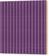 Plum Purple Striped Pattern Design Wood Print