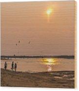 Plum Sunset Wood Print