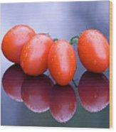 Plum Tomatoes Wood Print
