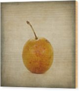 Plum Vintage Look Wood Print