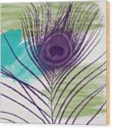 Plumage 2-art By Linda Woods Wood Print