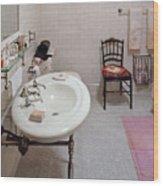 Plumber - The Bathroom  Wood Print