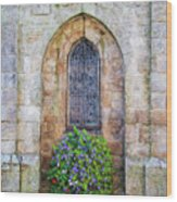 Plumergat, Brittany,france, Parish Church Window Wood Print