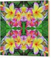 Plumeria Art Wood Print