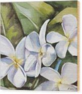 Plumeria II Wood Print