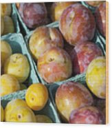 Plums Wood Print by John Greim