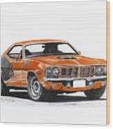 Plymouth Barracuda 1973 Hemi Cuda Wood Print