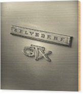 Plymouth Belvedere Gtx Fender Emblem Badge Wood Print
