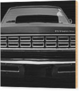 Plymouth Fury - Black Wood Print