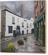 Plymouth Gin Distillery Wood Print by Donald Davis