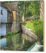Plymouth Grist Mill Wood Print