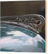 Art Deco Plymouth Hood Ornament Wood Print