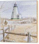Plymouth Light In Winter Wood Print