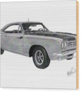 Plymouth Road Runner 1969 Wood Print