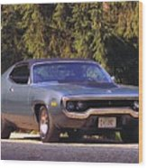 Plymouth Road Runner Wood Print