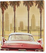 Plymouth Savoy With Palm Trees Wood Print