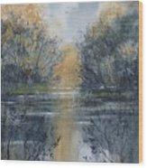 Pm River 2 Wood Print