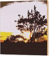 Pnw Sunset Wood Print