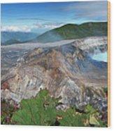 Poas Volcano Wood Print