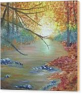 Pocono Creek In Autumn Wood Print