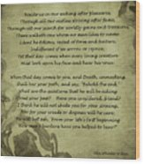 Poem The Question By Ella Wheeler Wilcox Wood Print