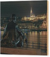 Poet On The Danube Wood Print