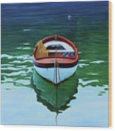 Coastal Wall Art, Poetic Light, Fishing Boat Paintings Wood Print