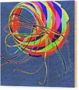 Poetry Of Kite Swirls Wood Print