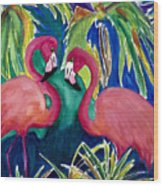 Poin And Settia Dine At The Palm Wood Print