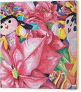 Poinsettia Christmas Wood Print