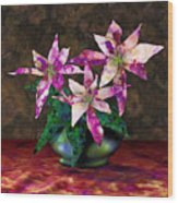 Poinsettia Still Life Wood Print