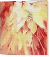 Poinsettias Wood Print by Joan  Jones