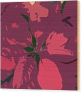 Poinsettias Work Number 4 Wood Print