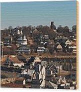 Point Allerton From Fort Revere Wood Print