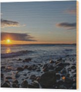 Point Allerton Sunrise - Nantasket Island Wood Print