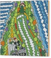 Point Arena Lighthouse Wood Print by Rojax Art