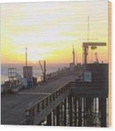 Point Arena Wharf Wood Print