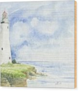Point Aux Barques Lighthouse Wood Print