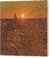 Point Betsie Light Wood Print
