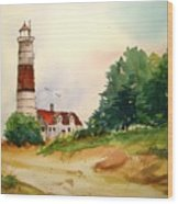 Point Betsie Lighthouse Michigan Wood Print